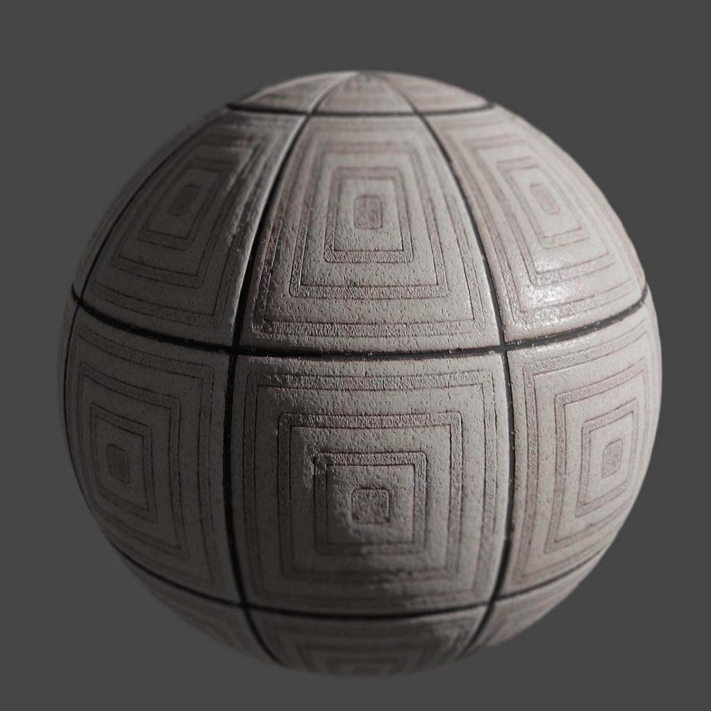 Decorative ceramic tile